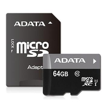 ADATA威剛 MICRO SDHC 64G記憶卡C10U1