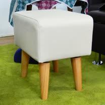 HAPPYHOME 長方型米色實木腳椅凳ZU5-7CR
