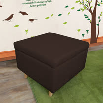 HAPPYHOME 正方形掀蓋腳椅實木腳ZU5-3-4四色可選