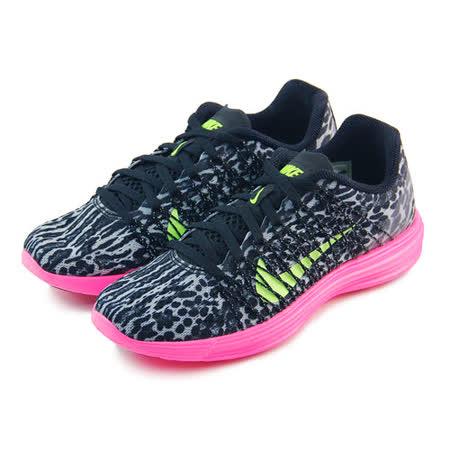 (女)NIKE WMNS NIKE LUNARACER+ 3 慢跑鞋 黑豹紋/桃紅/螢光綠-554683036