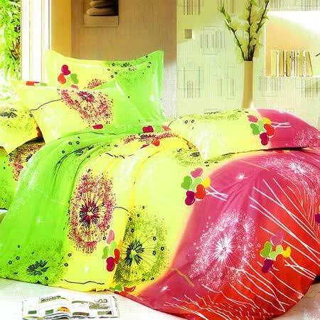 香草花園 雙人四件式兩用被床包組