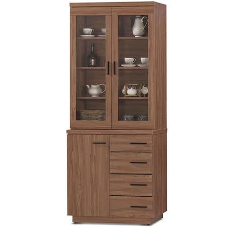 MY傢俬 歐風簡約設計2.7尺收納隔間餐櫃