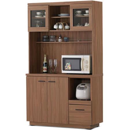 MY傢俬 歐風簡約設計4尺收納隔間餐櫃