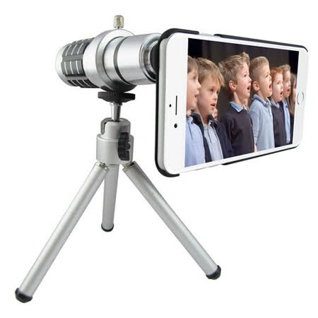 TS25銀砲管 iphone6 plus(5.5吋)專用型 望遠鏡頭組(16倍光學變焦)