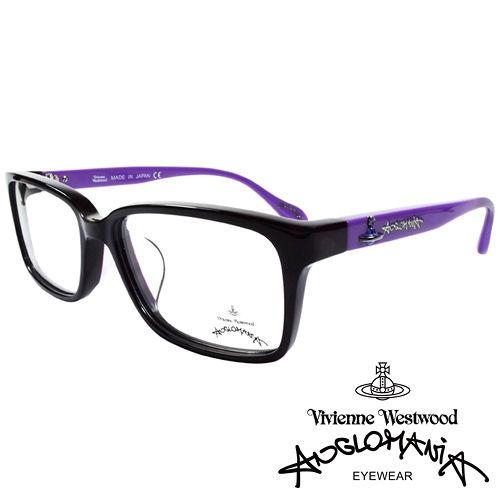 Vivienne Westwood 英國Anglomania亮眼配色光學眼鏡^(黑 紫^)
