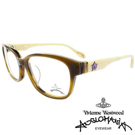 Vivienne Westwood 英國Anglomania五芒土星琥珀撞色光學眼鏡(黃琥珀+白)AN28202