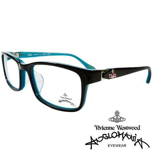 Vivienne Westwood 英國Anglomania側接金屬經典土星光學眼鏡(天藍+紫)AN28504