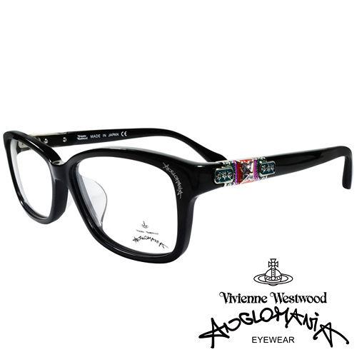 Vivienne Westwood 英國Anglomania貴氣土星★閃亮鑲鑽光學眼鏡(黑)AN28801