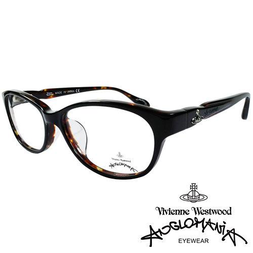 Vivienne Westwood 英國Anglomania獨特側邊流線 款光學眼鏡^(咖