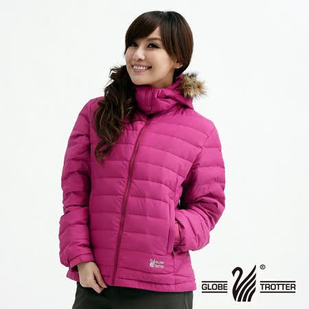【遊遍天下】女款JIS90%羽絨連帽防風防潑水輕量羽絨外套A005紫