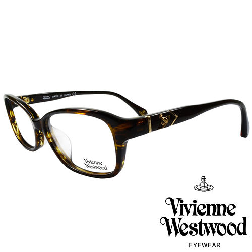 Vivienne Westwood 英國薇薇安魏斯伍德簡約 金屬浮雕土星光學眼鏡^(咖琥珀