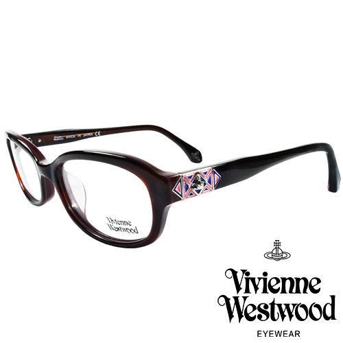 Vivienne Westwood 英國薇薇安魏斯伍德多彩幾何 光學眼鏡^(咖啡紅^)VW