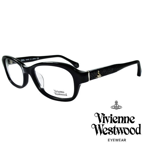 Vivienne Westwood 英國薇薇安魏斯伍德搖滾線條壓紋光學眼鏡^(黑^)VW3