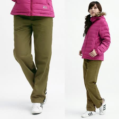 【遊遍天下】MIT台灣製中性款禦寒刷毛保暖褲A014卡其