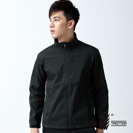 【遊遍天下】中性款防水防風透濕軟殼刷毛機能型外套A018黑