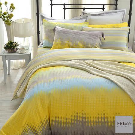 FET&co.寢飾 城市光點天絲-舒柔系列兩用被床包組(特大)