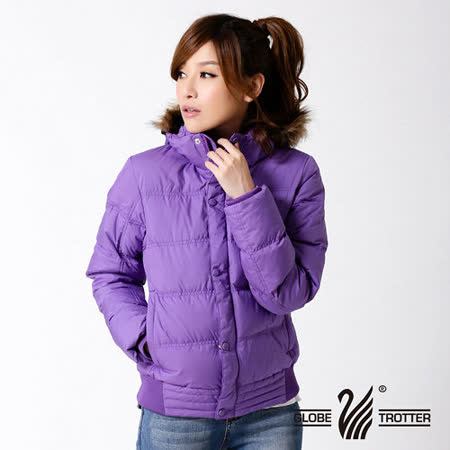 【遊遍天下】女款JIS90%羽絨極暖率性防風防潑水連帽羽絨外套A065深紫