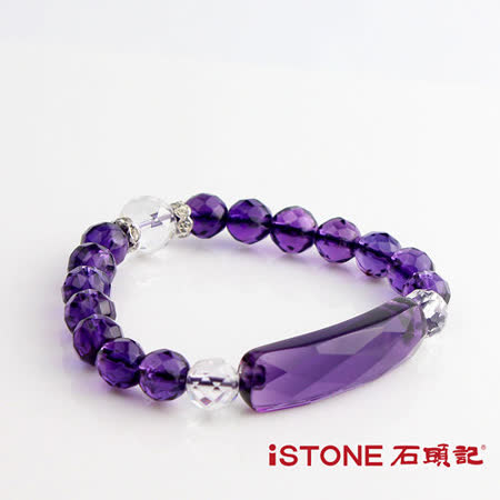 石頭記 有情世界切刻紫水晶手鍊