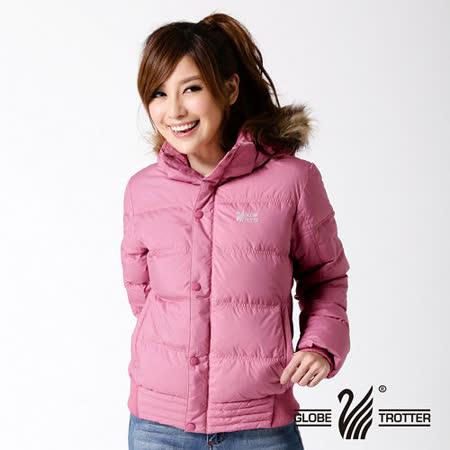 【遊遍天下】女款JIS90%羽絨極暖率性防風防潑水連帽羽絨外套A065粉紫