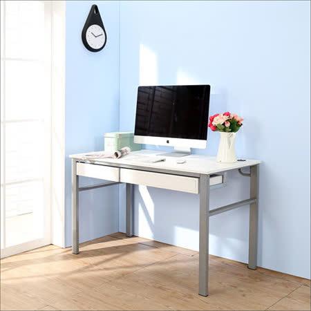 BuyJM低甲醛仿馬鞍皮120公分雙抽屜穩重型工作桌