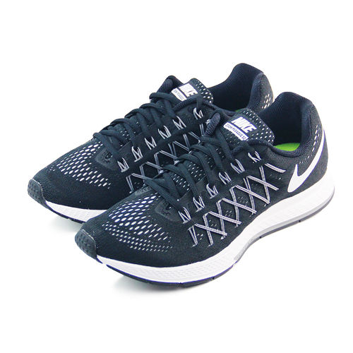 (男)NIKE AIR ZOOM PEGASUS 32 慢跑鞋 黑/白-749340001