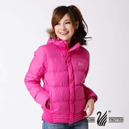 【遊遍天下】女款JIS90%羽絨極暖率性防風防潑水連帽羽絨外套A065紅