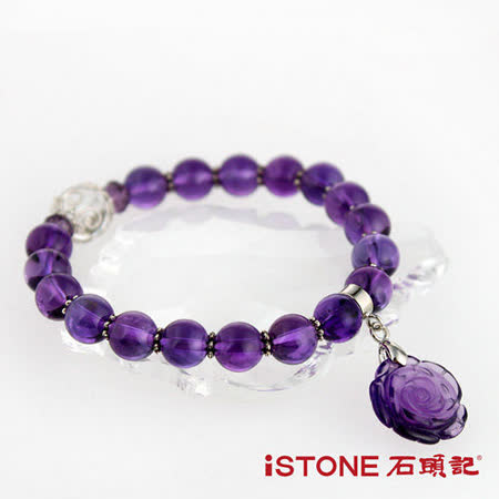 石頭記  花開富貴8mm紫水晶手鍊