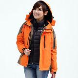 【遊遍天下】中性款GlobeTex防水防風透濕機能外套A016桔黃