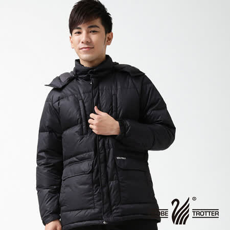 【遊遍天下】男版禦寒極暖JIS90%羽絨中長版羽絨外套K001深藍