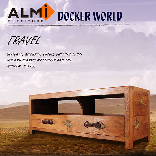 【ALMI】DOCKER WORLD- RACK TV 2 DRAWERS 二抽電視櫃