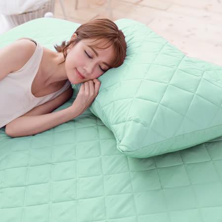 (任)J-bedtime【幻彩湖水綠】雙人床包式防汙防塵保潔墊