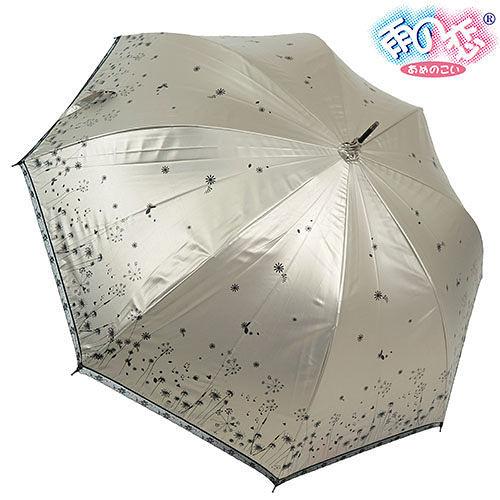 ◆ 雨之戀◆ 鈦金膠散熱降溫3^~5℃夕霧草直傘{香檳金內黑}遮陽傘雨傘雨具晴雨傘專櫃傘