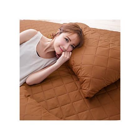 (任)J-bedtime【幻彩深咖啡】單人床包式防汙防塵保潔墊