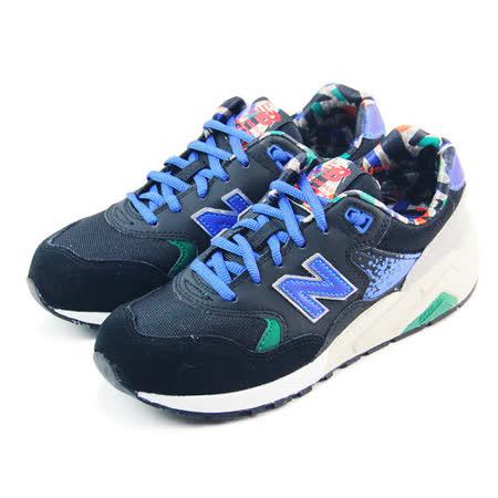 (男女)NEW BALANCE 復古鞋 黑/藍/塗鴉印花-MRT580HD