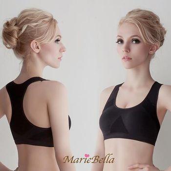 MarieBella 透氣網工字背美胸衣 黑色