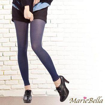 MarieBella 120D高彈力牛仔九分褲襪 藍