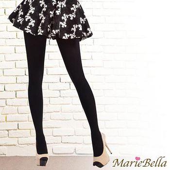MarieBella 240D高彈力刷毛保暖褲襪 黑