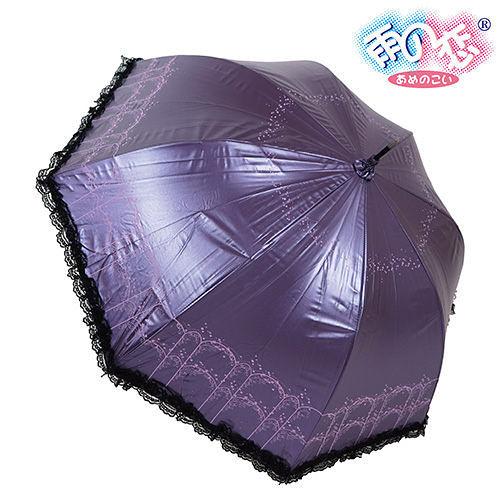 ◆日本雨之戀◆ 福懋散熱降溫3~5℃歐風直傘{深紫內黑}遮陽傘/雨傘/雨具/晴雨傘/專櫃傘