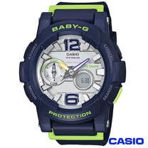 CASIO卡西歐 BABY-G衝浪滑板極限運動數位錶-藍 BGA-180-2B