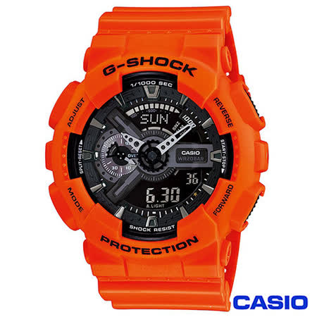 CASIO卡西歐 榮耀之星魅力時尚雙顯運動腕錶 GA-110MR-4A