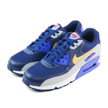 (男)NIKE AIR MAX 90 ESSENTIAL 休閒鞋 深藍/灰/金-537384409