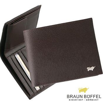 BRAUN BUFFEL 德國小金牛 提貝里烏斯系列4卡短夾附零錢袋 - 咖啡