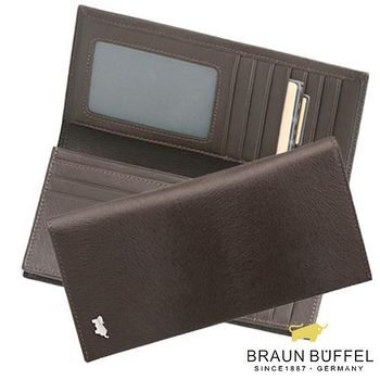 BRAUN BUFFEL 德國小金牛 提貝里烏斯系列15卡長夾 - 咖啡