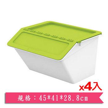 ★4件超值組★樹德SHUTER 家用整理箱MHB-4541時尚粉綠(45*41*28.8cm)