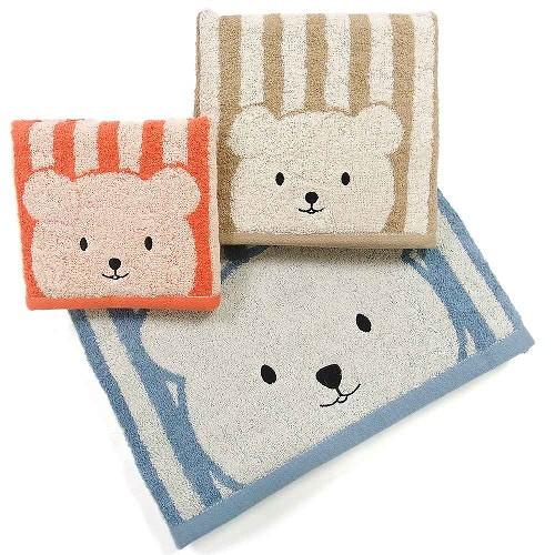 條紋彩色熊毛巾^(34^~76cm^)