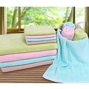 素色輕柔浴巾-粉/卡其/水藍/綠(68*137cm)