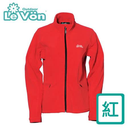 【LeVon】女款雙刷毛保暖夾克 LV3190(紅)