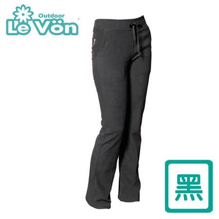 【LeVon】女款雙刷毛保暖長褲 LV2116(黑)