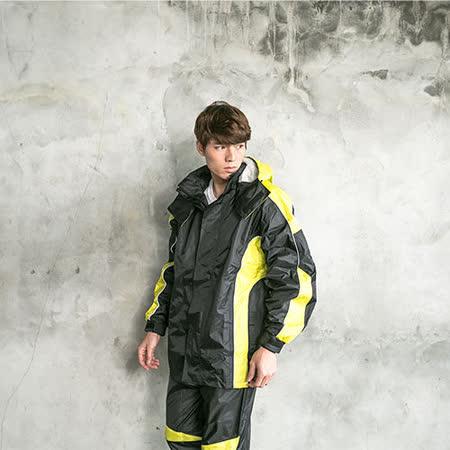 OutPerform-戰神Mars兩件式風雨衣-黑/芥茉黃