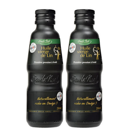 【法國艾米爾諾耶】100%冷壓初榨亞麻仁油2件組